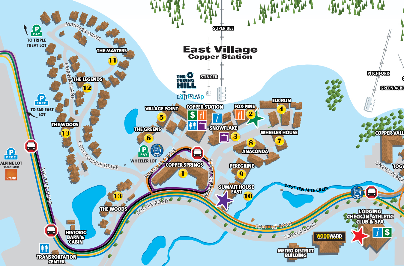 copper mountain village map gallery